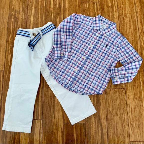 Ralph Lauren Other - Ralph Lauren Button Down and Pant Set 24months👶🏼